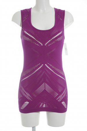 Fabletics Cut-Out-Top lila sportlicher Stil