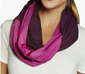 Fabletics eternity scarf infinity loop plum