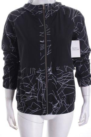 Fabletics Veste de sport noir-gris clair motif graphique style athlétique