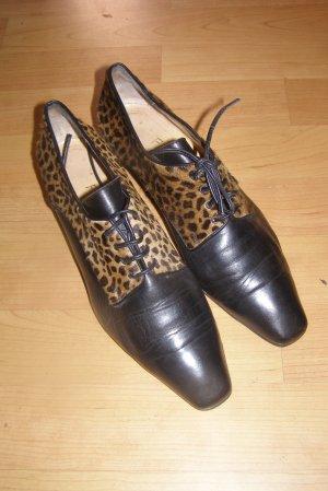 Chaussures à lacets multicolore cuir