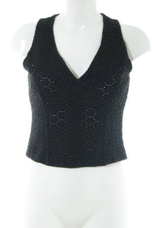 Fabrizio Lenzi Crochet Top black elegant