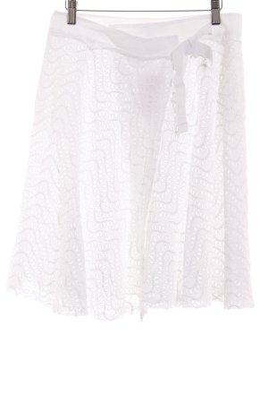 Fabrizio Lenzi Midirock weiß florales Muster Elegant