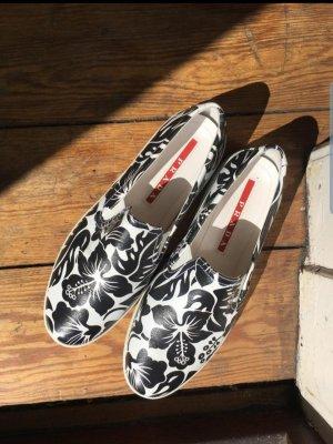 Prada Zapatos formales sin cordones blanco-negro