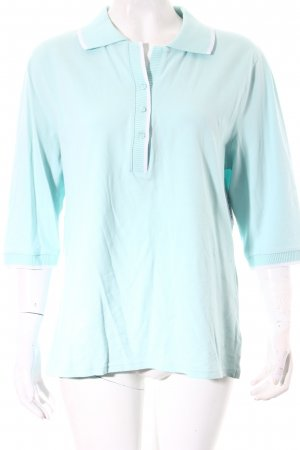 Faconnable Polo-Shirt türkis Casual-Look