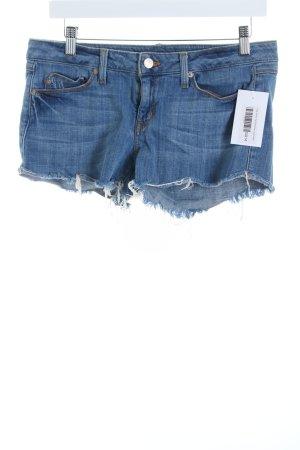 Fade to blue Hot Pants blau Used-Optik