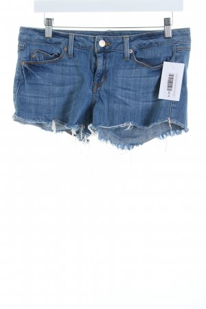 Fade to blue Hot Pants blau Used-Optik