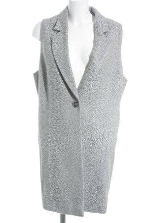 Fadenmeister Berlin Chaleco de punto largo color plata-gris look casual