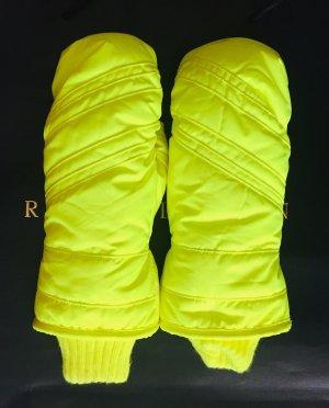 Manoplas amarillo neón