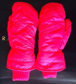 Moufle rose fluo