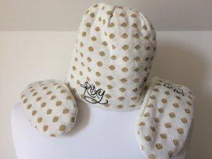 Roxy Moufle blanc-doré