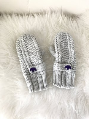 Adidas Mittens light grey-dark violet polyester