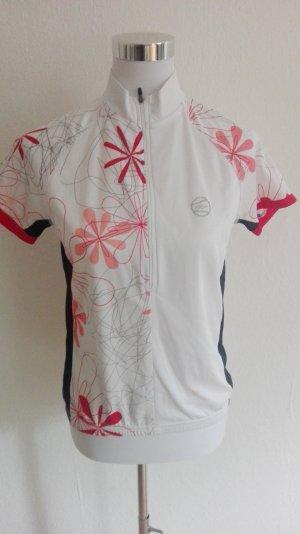 Camisa deportiva blanco-rojo