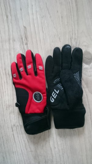 Gloves black-red