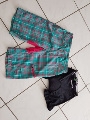 Vaude pantalonera rojo frambuesa-verde