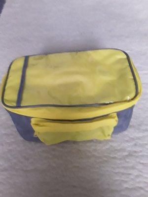 Mini sac gris-jaune