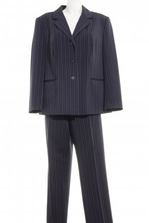 Fair Lady Broekpak donkerblauw-wit krijtstreep zakelijke stijl