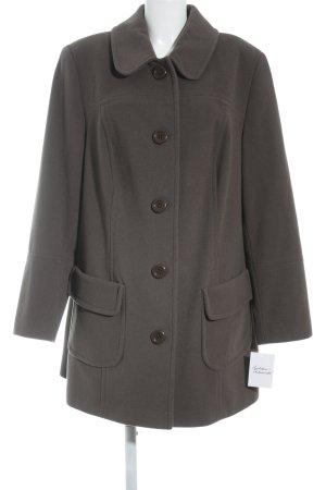 Fair Lady Abrigo de lana marrón oscuro estilo clásico