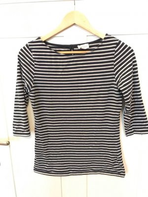 armedangels Stripe Shirt dark blue-oatmeal cotton