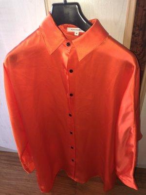 Faith connexion Zijden blouse oranje-neonoranje