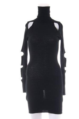 Faith connexion Vestido tipo jersey negro look casual