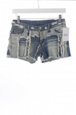 Faith connexion Shorts blau-creme Destroy-Optik