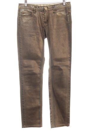 Faith connexion Stretch Jeans goldfarben-schwarz Farbverlauf extravaganter Stil