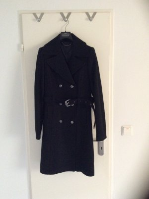 Faith Connexion Trench Coat Mantel Schwarz Gr M Neu Winter