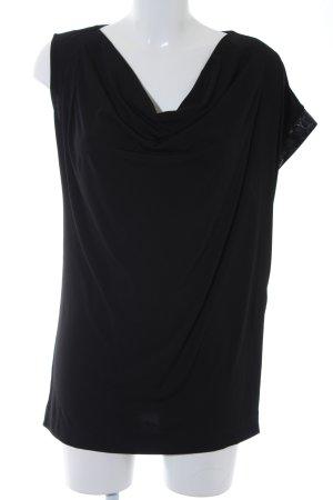 Faith connexion Waterval shirt zwart Materiaalmix-look