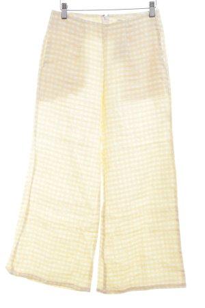 Faithfull Culottes wollweiß-gelb Karomuster minimalistischer Stil
