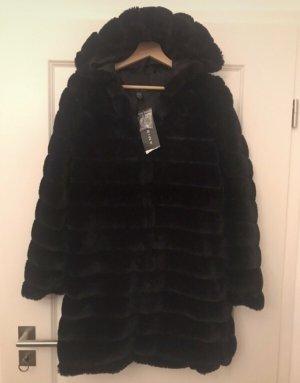 Amisu Fake Fur Coat black