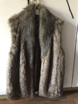 Atmosphere Giacca di pelliccia marrone chiaro-marrone-grigio