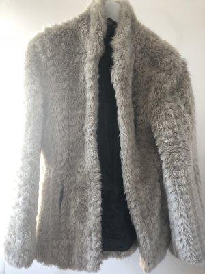 Amisu Giacca di pelliccia beige chiaro