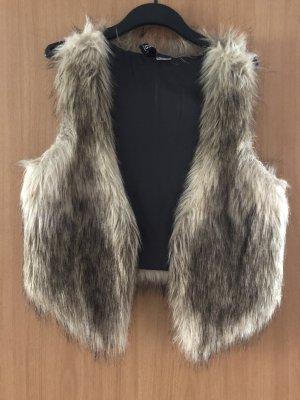 Fake Fur faux fur Fell Weste Größe XS  / 34 von H&M