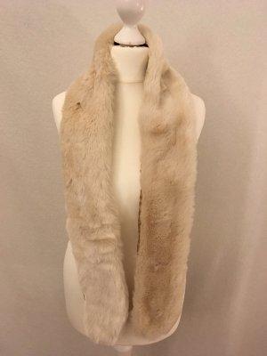 H&M Bufanda blanco puro piel artificial
