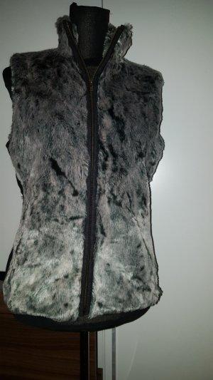 Vintage Smanicato grigio chiaro-grigio