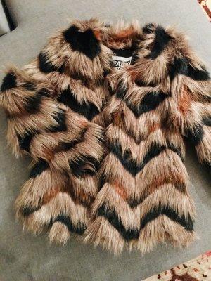 Faux London Giacca di pelliccia multicolore