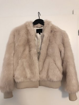 Banana Republic Fur Jacket cream