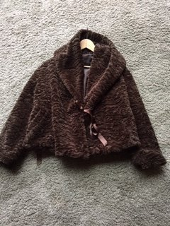 Fake Fur Jacket dark brown-brown fake fur