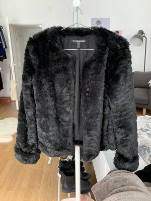 Zara Trafaluc Bontjack zwart