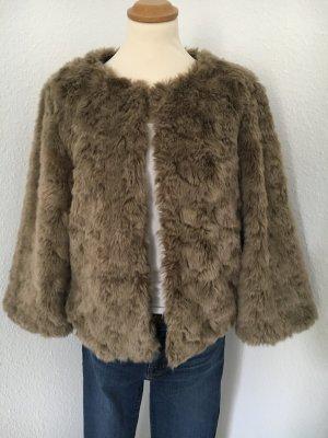 Fake-Fur Jacke Frühling - neuwertig