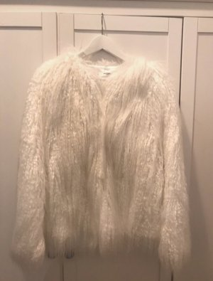 Mango casual Fur Jacket white