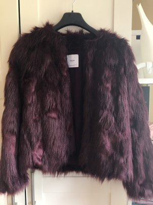 Fake-Fur Jacke von Zara Weinrot