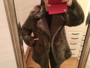 Fake Fur Kunstfell Mantel Jacke Unisex