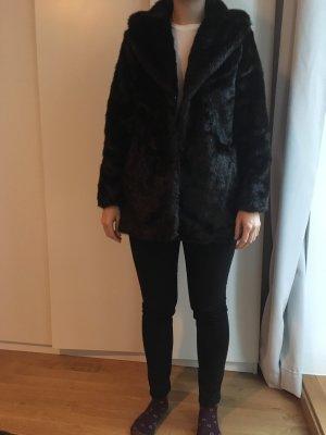 H&M Giacca di pelliccia marrone-nero-marrone scuro