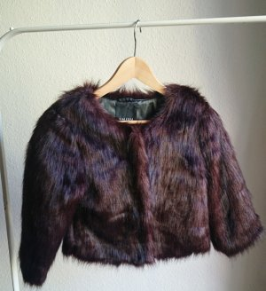Amisu Fur Jacket dark brown-brown