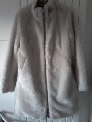 s.Oliver Fake Fur Coat light grey fake fur