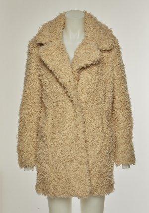 Pimkie Cappotto in eco pelliccia sabbia-oro Pelliccia ecologica