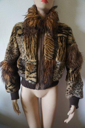 FaKe Fur Leder Bluson