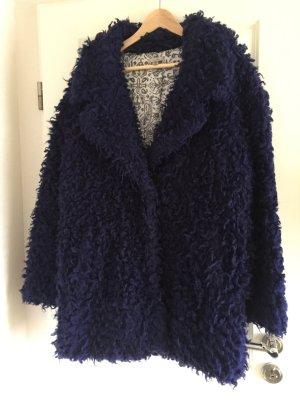 Fake Fur, Mantel, Blau Gr. M