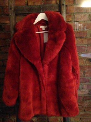 Fake-Fur Mantel Größe 36